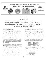 Your Individual Indian Money (IIM) account - Indian Country Extension