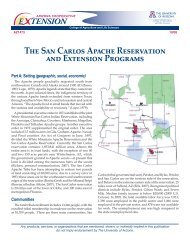 The San Carlos Apache Reservation and Extension Programs