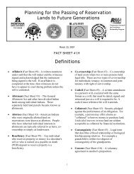 AIPRA Factsheet 14 - Indian Country Extension
