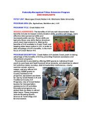 The Creek Nation assists Creek youth in taking advantage of the
