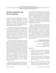 Double Aneuploidy with Down Syndrome - medIND