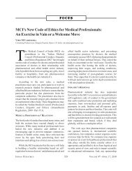 MCI's New Code of Ethics for Medical Professionals: An ... - medIND