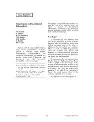 Pancytopenia in Disseminated Tuberculosis