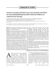 Serum Nevirapine and Efavirenz Concentrations and ... - medIND