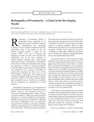 Retinopathy of Prematurity – A Giant in the Developing ... - medIND