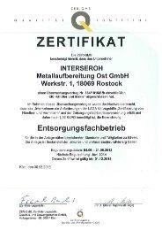 Zertifikat Efb - Alba