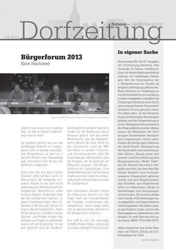 Bürgerforum 2013 - Stadt Eupen
