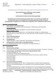 Öffentliche Vorankündigung im Amtsblatt der Europäischen ... - HVV