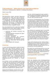 Merkblatt Alternativen zu Gerichtsverfahren - VfW