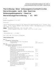 Verordnung über wohnungswirtschaftliche Berechnungen nach dem ...