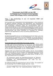 Thesenpapier des B.KWK und des VfW zur Regulierung der ...
