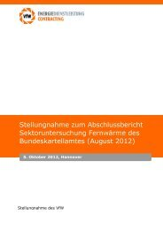 Stellungnahme zum Abschlussbericht Sektoruntersuchung ... - VfW