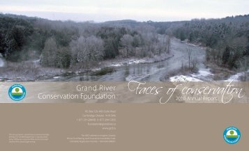 2010 Foundation Annual Report - Grand River Conservation Authority