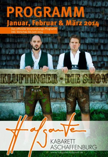 PROGRAMM - Hofgarten Kabarett