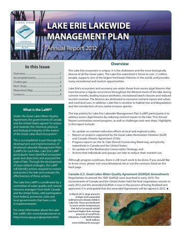 Lake Erie Lakewide Management Plan - Grand River Conservation ...