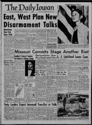 (Iowa City, Iowa), 1954-10-23 - The Daily Iowan Historic Newspapers