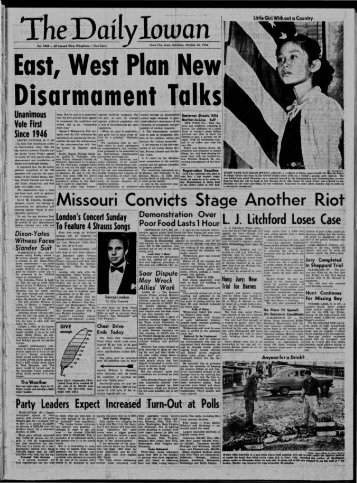 (Iowa City, Iowa), 1954-10-23 - The Daily Iowan Historic Newspapers