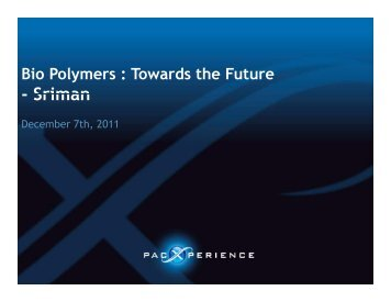 Bio-Polymers - India Packaging Show