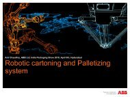 Robotic cartoning and Palletizing system - India Packaging Show