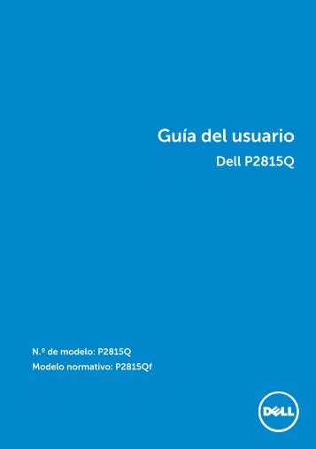 dell-p2815q-monitor_User's Guide_es-mx