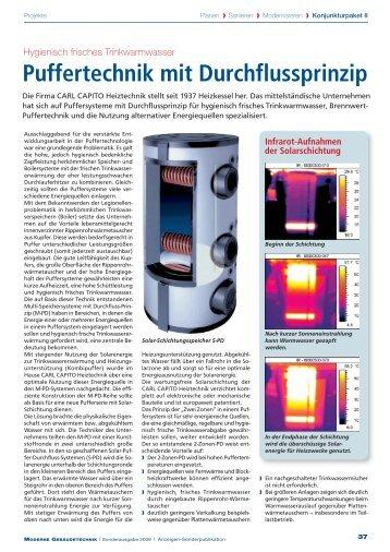 Puffertechnik mit Durchflussprinzip - Carl Capito Heiztechnik Gmbh
