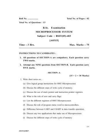 BSIT(05)-403 [A0315] - IndiaStudyChannel.com