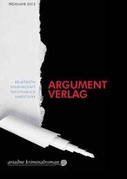 ARGUMENT VERLAG - indiebook