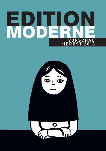 VORSCHAU HERBST 2013 - Edition Moderne