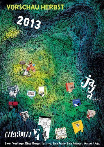 Vorschau Herbst 2013 - Jaja Verlag