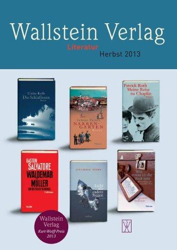 Vorschau Literatur Herbst 2013 - Wallstein Verlag