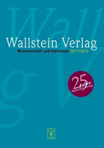 Wallstein Verlag - indiebook