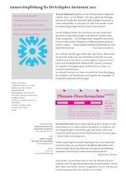 Empfehlungen Frühjahr 2012 - indiebook