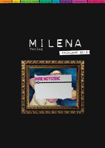 Frühjahr 2012 (PDF, 4.5MB) - Milena Verlag