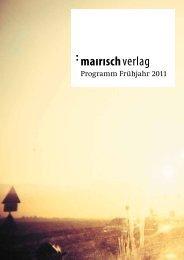 Vorschau Frühjahr 2011 - indiebook