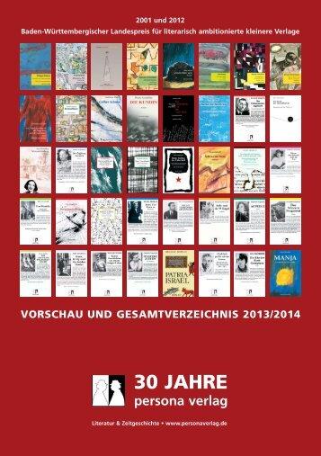 Vorschau und Gesamtverzeichnis 2013/2014 - indiebook