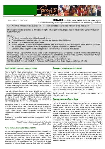 Ausgabe 1-2 (Juni 2012) - Indienhilfe Herrsching