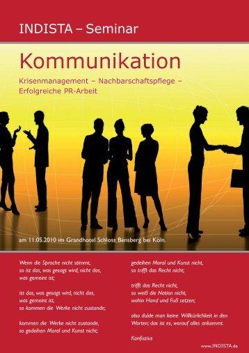 Programm INDISTA 2010 - Kommunikation