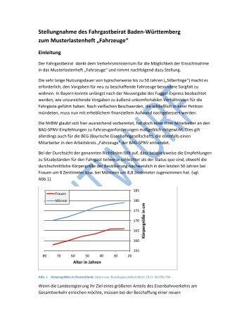 Stellungnahme des Fahrgastbeirat Baden-Württemberg zum ...