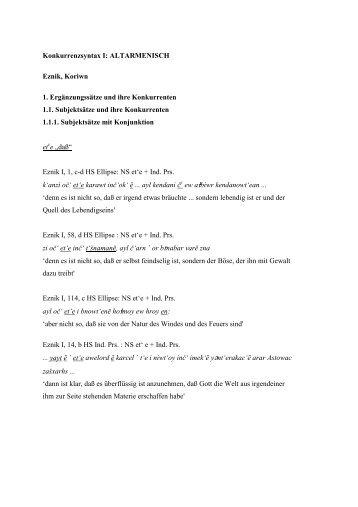 Armenisch 1. Teil (Joachim Matzinger)