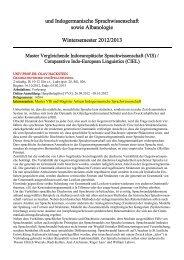 Kommentiertes Vorlesungsverzeichnis Wintersemester 2012/13 ...