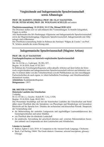 Download Vorlesungsverzeichnis Wintersemester 2010/11