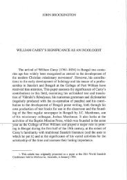 William Carey's Significance as an Indologist - The Online Journal of ...