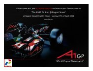 'The A1GP Pit Stop @ Regent Street' - Indonesian Embassy in London