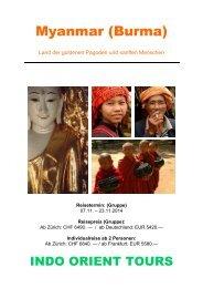Myanmar - Indo Orient Tours