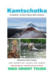 Kamtschatka - Indo Orient Tours