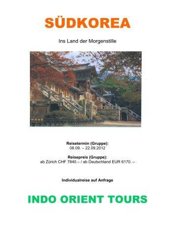 SÜDKOREA - Indo Orient Tours