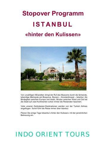 Stopover Programm ISTANBUL INDO ORIENT TOURS