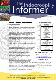 November 29, 2012 Newsletter Issue 39 - Indooroopilly State School