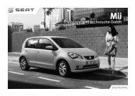 SEAT Mii Preisliste und technische Daten - Autohaus Berglar