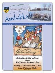 Amtsblatt vom 12.12.2013 (KW 50) - Gemeinde Böhl-Iggelheim